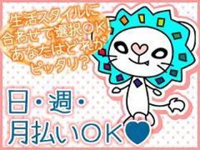 ピッキング(検品・梱包・仕分け)(買い物気分でOK/シフト希望制、週3日~、全額日・週払い)